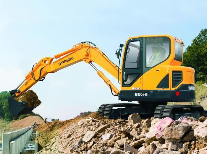 Tracked Excavator Hire Hyundai R80CR-9